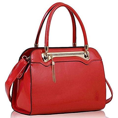 TrendStar Femmes Célébrités De La Mode Design De Style Sacs À Main Fourre Tout Élégant (Z - Rouge)
