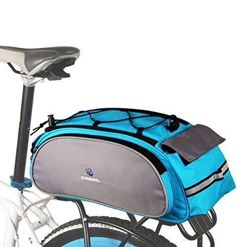 Roswheel Wasserdichte Fahrradtasche Gepaecktasche Gepäckträgertasche Rennradtasche, ca.40 x 16 x 21cm Blau