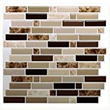Vamos Tile Premium Anti Moho Peel y Stick azulejo Backsplash, pegar Backsplash baldosas de pared para cocina & bathroom-self adhesive-11 x 9,2 (6 hojas)