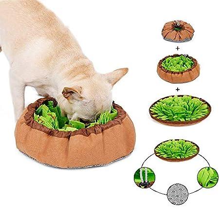 inRobert Schnüffelteppich für Hunde Schnüffelrasen Intelligenzspielzeug Schnüffelteppich Puzzle Spielzeug Haustier Matte…