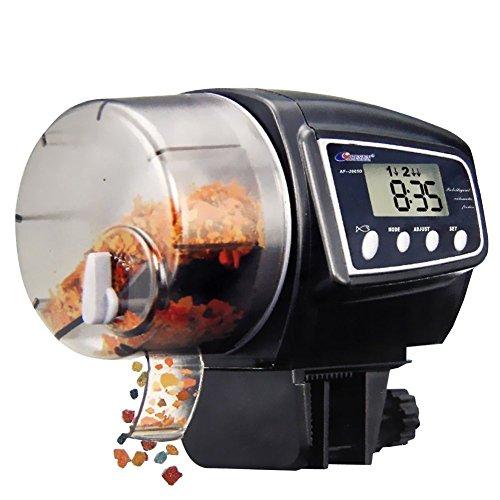 Aquarium Automatischer Fischfütterer, NICREW Automatische Aquarium Fütterung, Fisch Lebensmittel Spender mit LCD-Anzeige und Timer für Aquarium Fish Tank