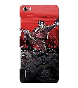 EPICCASE Zombie Killer Mobile Back Case Cover For Huawei Honor 6 Plus (Designer Case)