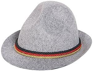 Folat Bayern Oktoberfest tirolés Hut gris claro sombrero de fieltro