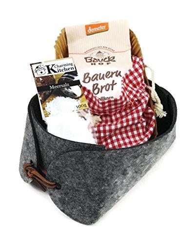 """Geschenkkorb """"Brot und Salz"""" – Einweihung, Einzug, Richtfest – Bio-Backmischung"""