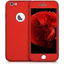 kwmobile Funda para Apple iPhone 6 / 6S - Case para móvil de TPU sílicona - Cover protector en Backcover en rojo oscuro metalizado