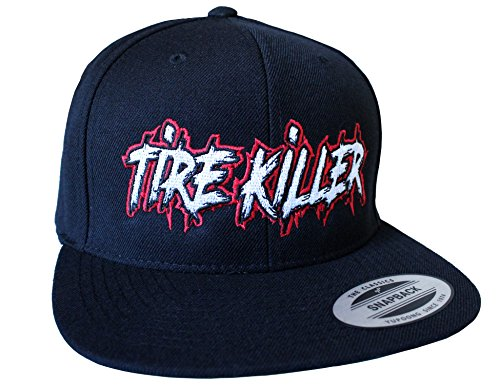 Petrolhead Industries: Tire Killer - Cap für alle Tuning-, Drift-, und Motorsport Fans - Classic Snapback von Flexfit (One Size)