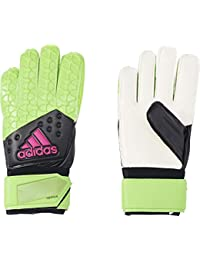 Adidas Men's Ace Replique Gloves - Solar Green/Core Black/Shock Pink/White, Size 11