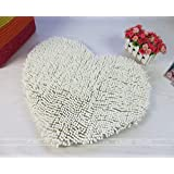 Alfombra de chenille en forma de corazón/Mat melocotón/Alfombra de baño de agua/Novia de corazón en forma de felpudo-F 40x50cm(16x20inch)