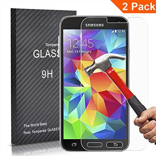 [2 Unidades] Samsung Galaxy S5 Protector Cristal Templado, Outera Protector Pantalla Protector...