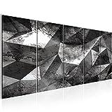 Bilder 3D Effekt Wandbild 200 x 80 cm Vlies - Leinwand Bild XXL Format Wandbilder Wohnzimmer Wohnung Deko Kunstdrucke Grau 5 Teilig -100% MADE IN GERMANY - Fertig zum Aufhängen 506555c