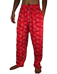 NCAA Mens Nebraska Cornhuskers Cotton Sleepwear / Pajama Pants