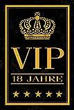 Schatzmix VIP 18 Jahre - Very Important Person, Geburtstag, Birthday blechschild