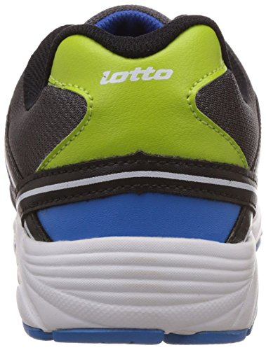Lotto Men's Zest Grey, Black and Lime Mesh Running Shoes - 10 UK/India (44 EU)