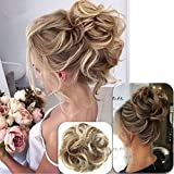 Curly Messy Hair Scrunchies Hair Bun Extensions, UxradG Natural Curly Wavy Hair Pieces For Women Ponytail Hair Extensions Hair Donut Hair Chignons Hair Accessories (3.5cm,12H24)