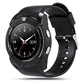 Kivors Reloj Inteligente, Bluetooth Smartwatch Pulsera Deportes Fitness Tracker Tarjeta SIM y TF con...