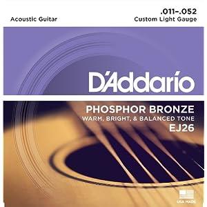 D'Addario EJ Set Corde Acustica EJ Phosphor BRZ RND WND