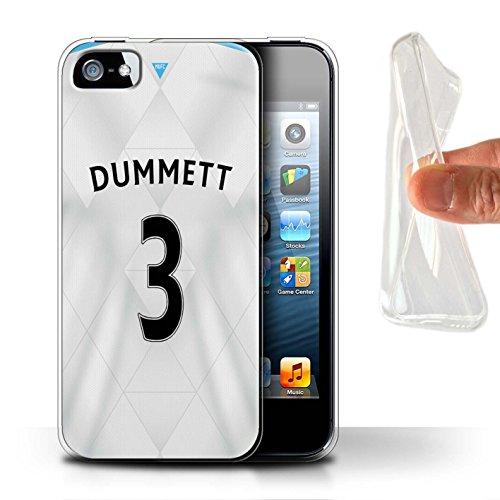 Offiziell Newcastle United FC Hülle / Gel TPU Case für Apple iPhone SE / Pack 29pcs Muster / NUFC Trikot Away 15/16 Kollektion Dummett