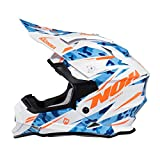 Nox Cross-Helm, Weiß/Orange/Bazooka, Größe S