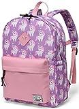 VASCHY Einhorn Kinderrucksack, Kinder Mädchen Schulrucksack Kleinkind Rucksack mit Brustschnalle