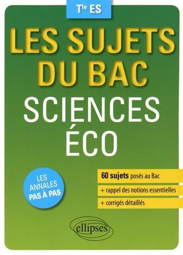 Les sujets du Bac Sciences Éco Tle ES