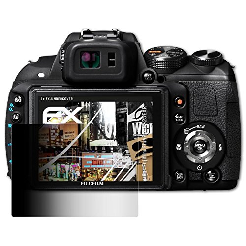 atFoliX Blickschutzfilter für Fujifilm FinePix HS25EXR Blickschutzfolie, 4-Wege Sichtschutz FX Schutzfolie
