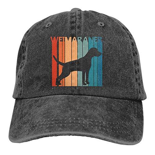 YingaiOK Funny Cute Weimaraner Unisex Adult Cap Adjustable Cowboys Hats Baseball Cap Fun Casquette Cap Black Weimaraner-baseball-cap