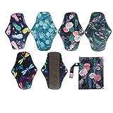 6PCS Charcoal Bamboo Menstrual Pads Panty Liner