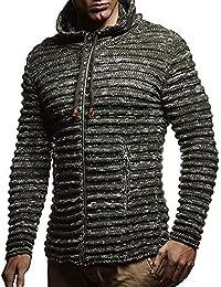 Cinnamou_hombre Suéter Jersy Tops Cremallera Prendas de Punto Slim Tejido Blusa de Invierno Ganchillo Abrigos de los Hombres