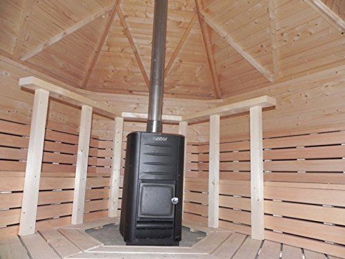 JUNIT Saunakota mit großem Saunaraum, ohne Sauna-Ofen für ca. 8 Personen - 3