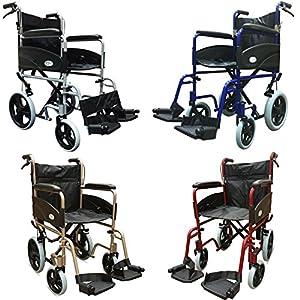 Z-Tec 601X Aluminium Folding Transit Wheelchair with Attendant Brakes