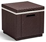 Allibert 212160 Kühlbox/Beistelltisch Ice Cube, Rattanoptik...