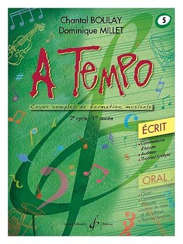 A Tempo - Partie Ecrite - Volume