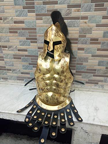 Shiv Shakti Enterprises Mittelalter Tempelritter Ritter Rüstung Brust Jacke Panzer Spartan Helm Halloween - Brust Rüstung Kostüm