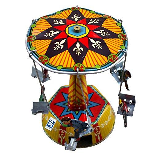 Viernes Negro Cyber Lunes Ofrece Regalos de Navidad Juguetes Juegos Antiguo Wind-up juguetes carrusel serie francés lata juguete coleccionables