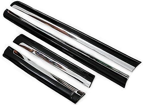 Corps Noir Porte Latérale moulé/Housse 4pièces pour Toyota Prado fj1502010–2013