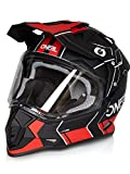 O'Neal Sierra II Comb Motocross Motorrad Helm MX Enduro Trail Quad Cross Offroad Gelände, 0817, Farbe Schwarz Rot, Größe M