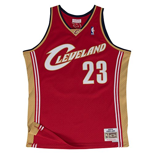 separation shoes 644a3 1b439 Mitchell & Ness Cleveland Cavaliers 23 Lebron James Swingman ...