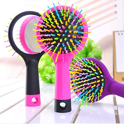 EQLEF® Arcobaleno pettine districante spazzola dei capelli per capelli bagnati o asciutti