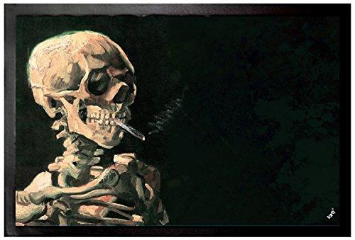 Vincent Van Gogh - Cráneo Fumando Un Cigarrillo, 1886 Felpudo Alfombr