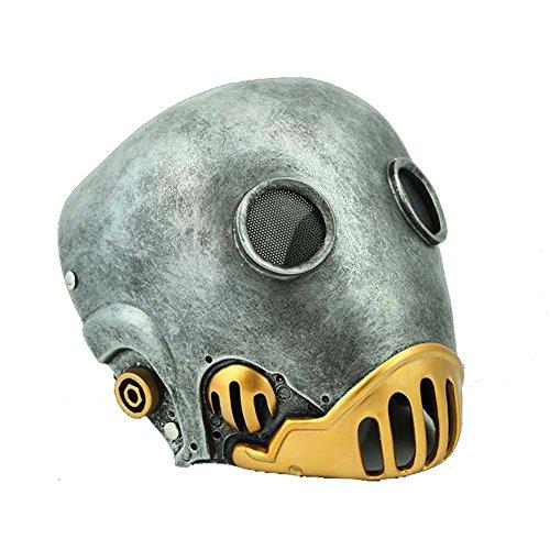 Halloween Maske Cosplay Kostüm Erwachsene Schrecklich Stil Harz Helm Fancy Dress Stütze für Herren (Hellboy Halloween-kostüm)