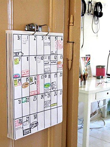 DIN A3 Wandkalender (18 Monate Laufzeit) z.B. Okt 2019 - März 2021