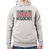 PacDesign Felpa con Cappuccio Uomo Narcos Serie TV Frasi Pablo Escobar Emilio Anni 80 80s Pd0021a, XL, Lightgrey