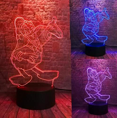 Schöne 3D Film Figur Nette Don Donald Duck Goofy Mickey Der Freund Led 7 Farbwechsel Nachtlicht Kind Junge Mädchen Weihnachten Spielzeug Giftusb Wiederaufladbare Kinder Ältere Nacht Feeds Präsentieren - 3d-filme Kostenlose