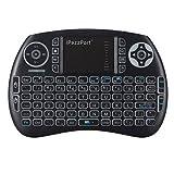 IPazzPort Mini clavier sans fil 2,4GHz avec pavé tactile multi-touches pour Android et Google Smart TV/XBMC/Raspberry pi Media Center KP-810-21  - With Backlit