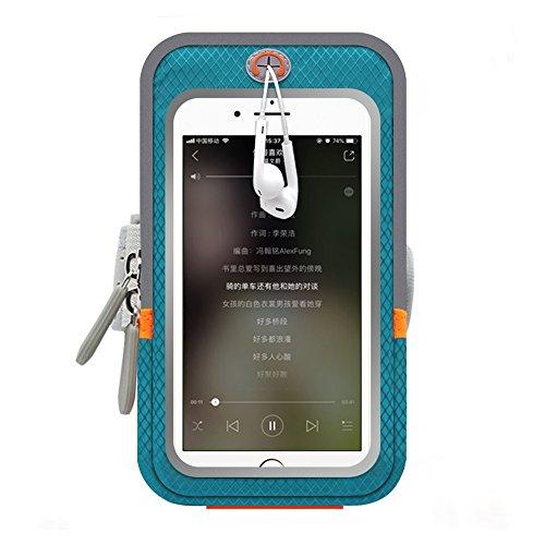Leichtes Laufarmband Mit Zusätzlichen Taschen Für Geld- Und Bankkarten Für Training Im Fitnessstudio, Radfahren, Wandern, Reiten, Joggen (Farbe : Blau)