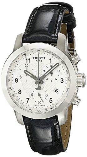 Tissot PRC 200Piel cronógrafo Damas Reloj t0552171603202