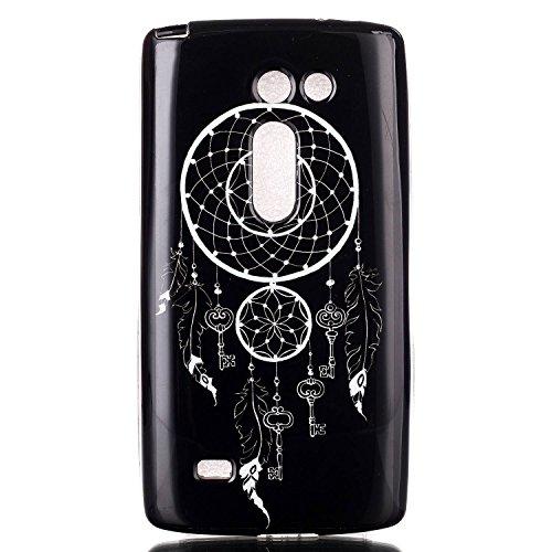 Voguecase® Per Apple iPhone 5 5G 5S, Custodia fit ultra sottile Silicone Morbido Flessibile TPU Custodia Case Cover Protettivo Skin Caso (Fiore pizzo) Con Stilo Penna Campanula chiave/nero
