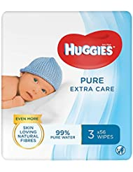 Huggies Pure Extra Care 3 X 56 Baby Wipes