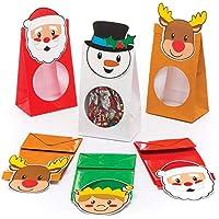Baker Ross Sachets pour friandises de Noël (Lot de 8), pour Les fêtes et Cadeaux de Noël des Enfants