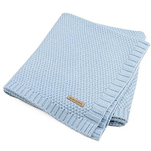 100% Acrylfaser gestrickte Babydecke Swaddle erhalten Decken für Neugeborene Jungen Mädchen Kinder (Baby-wetter-decke)